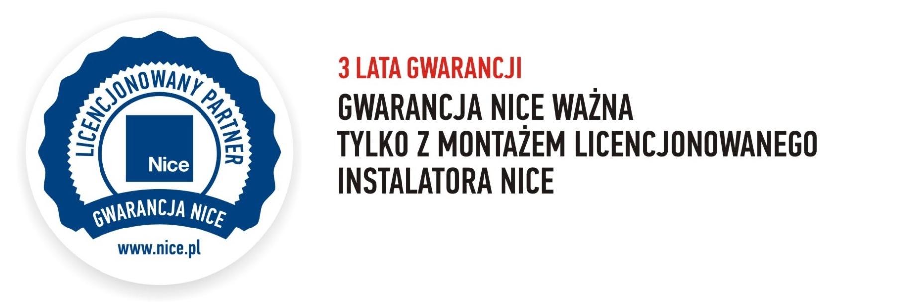 Licencjonowany instalator NICE